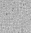 interface icons seamless background vector image