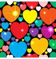 abstract background with multicolor hearts vector image