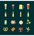 Colorful Drinking Beer Set vector image