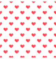 Flat design cute red hearts seamless pattern vector image