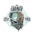 Grunge Skull Print 3 vector image