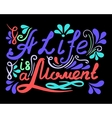Hand drawn vintage lettering A Life ia a vector image