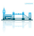 london sights abstract landscape vector image