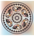 Mandala made of Seashells vector image