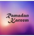 Ramadan Kareem icon on blurred background vector image