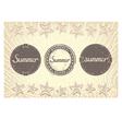 Three grunge labels designed for summer vector image