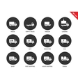 Trucks icons on white background vector image