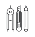 modern thin line icon on white vector image vector image