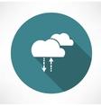 cycle of precipitation icon vector image vector image