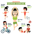 woman exercise infographics vector image