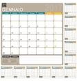 Italian Calendar 2017 vector image vector image