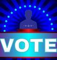 Election Vote Banner vector image