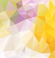 bright yellow abstract polygon triangular pattern vector image