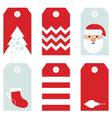 Cute modern Christmas holiday gift tags printables vector image