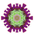 decorative indian round lace colorful mandala vector image