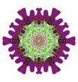decorative indian round lace colorful mandala vector image
