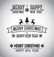 Decorative Merry Christmas signs vector image
