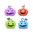 halloween of collection decorative colorful vector image