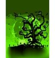 Halloween tree vector image