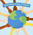 International day of peace Hands of different vector image