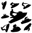 jet ski silhouettes vector image