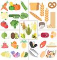 Nutrition healthy food vector image