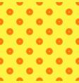 orange fruit seamless yellow pattern vector image