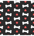 Pink hearts and bones seamless pattern Good for vector image
