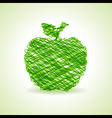 Sketched green apple design stock vector image