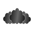Three black clouds vector image