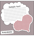 Card with heart and message cloud vector image