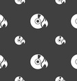 CD icon sign Seamless pattern on a gray background vector image vector image