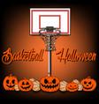 Basketball and Halloween vector image