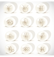 Symbols sign in spheres on the white background vector image vector image