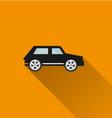 Car icon 9 long shadow vector image
