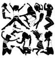 dancing and party girls vector image vector image