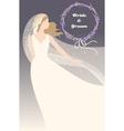 bride with lavender vector image