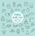 Wedding - doodle icons vector image