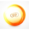 Orange sphere vector image