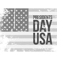 Presidents Day USA Text on grunge Flag vector image