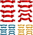 Set of ribbons banners isolated on white vector image