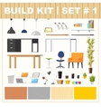 Build kit 1 office furniture vector image