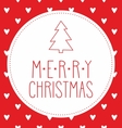 Christmas card with hand drawn wishes vector image