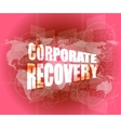 corporate identity word on business digital screen vector image