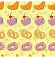 Tasty hand drawn seamless pattern vector image