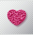valentines day background with lot of glossy heart vector image