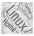 linux home automation Word Cloud Concept vector image