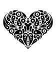 Decorative heart tattoo vector image vector image