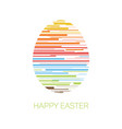 happy easter - minimalist easter card vector image vector image