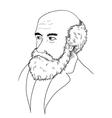 Charles Darwin vector image